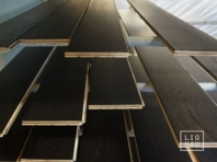 Solid Oak flooring, 20x140 x 500-2400 mm, Rustic grade, black oiled