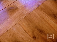 Solid Oak flooring, 20x120 x 500-2400 mm, Rustic grade, oiled in color Cherry
